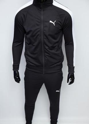 Костюм спортивный  в стиле pm 8993-120 черный c белым