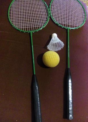 Набор  2 ракетки воланчик мячик легкий