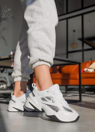 Женские кожаные кроссовки nike m2k tekno ◈ кеды ◈ белого цвета 😍