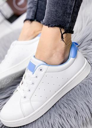 Кеды женские monelli белые + голубой
