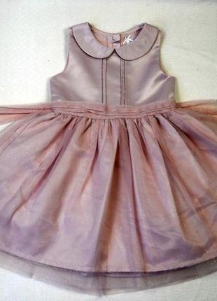 Фирменное красивое нарядное платье next на девочку 3 4 5 лет