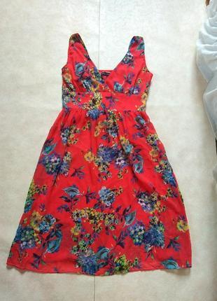 Стильное летнее платье миди в цветочный принт dp, xl размера.