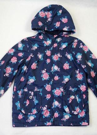 Фирменная демисезонная куртка на флисе на девочку 7 8 лет