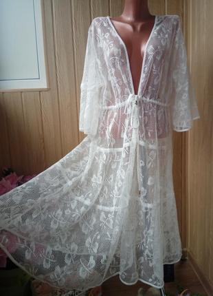Женские пляжные туники -халаты 2 цвета