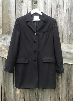 Удлинённый жакет пиджак пальто черный блейзер