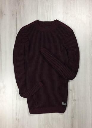 F8  свитер river island бордовый свитер ривер кофта вязанный