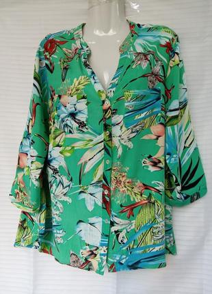 Блуза рубашка летняя в принт