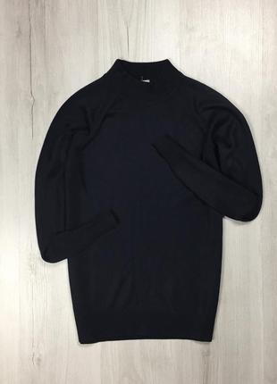 Гольф zarina кофта с высоким воротником черная