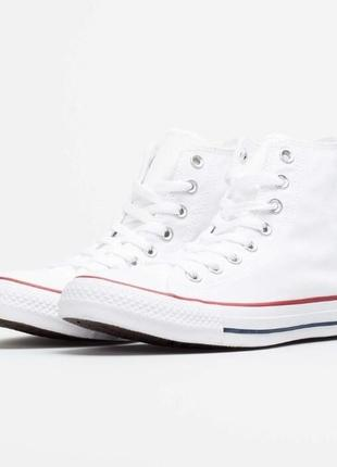 Кеды кроссовки converse all star hi white (40 по 44.5р) оригинал! -15%