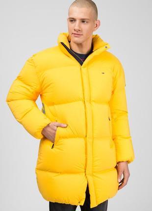 Куртка пуховик мужская жёлтая tommy hilfiger m новый оригинал