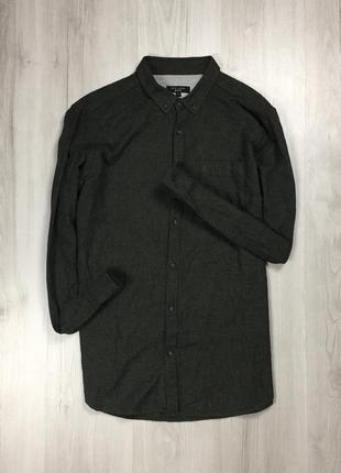 Z7  рубашка new look оливковая ньюлук хаки зеленая