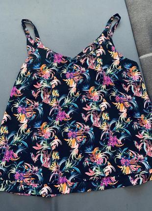 Шифоновая блуза, топ, майка