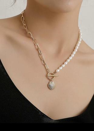 Troyanda ожерелье цепь с жемчугом