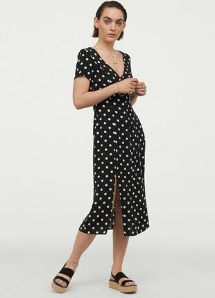 Шикарное вискозное платье 👗 миди h&m 42