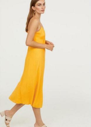 Шикарный вискозный легкий сарафан платье 👗 миди h&m 42