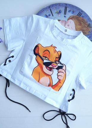 Топ футболка король лев симба