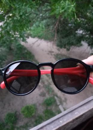 Polarized стильные очки для девочки и для мальчика круглые стиль леннон