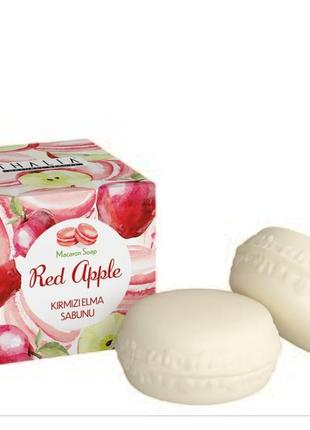 Натуральное мыло 2 штуки красное яблоко red apple макарон макарун thalia талия юнайс