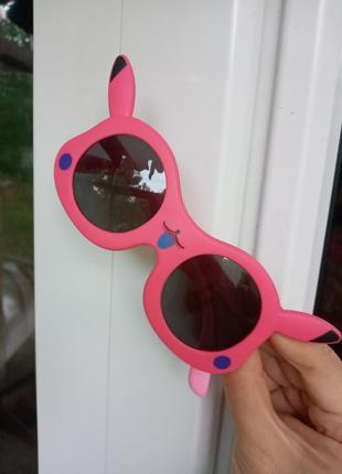 Малиновые очки для девочки антиблик зайка покемон polarized