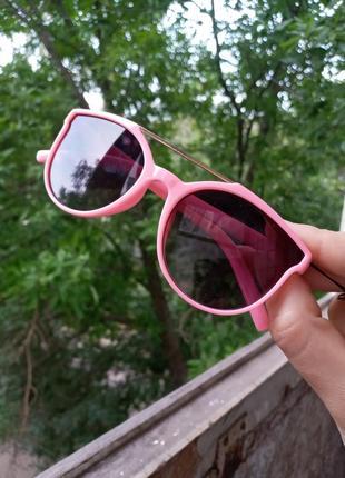 Стильные очки для девочки розовые двойная перегородка