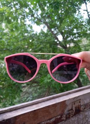 Стильные очки для девочки двойная перегородка розовые