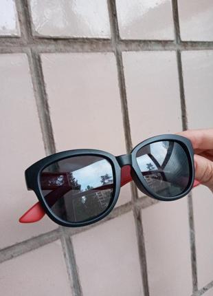 Polarized стильные очки для девочки и для мальчика с мишутками