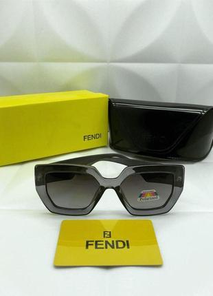 Солнцезащитные очки в стиле fendi в дымчатой оправе🌪