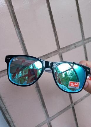Ray ban вайфареры синие зеркальные унисекс италия