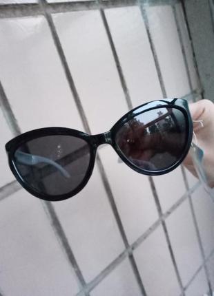 Стильные очки кошки для девочки лисички черные с белой дужкой стиль одри хепбёрн