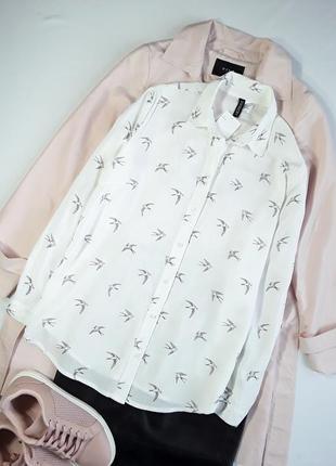 Шикарная белая рубашка от н&м