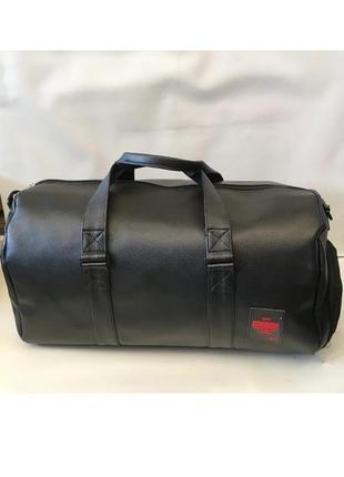 Лучшая спортивная сумка! на тренировку,дорожная pu кожа