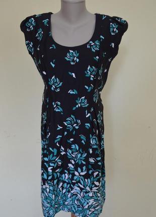 Красивое брендовое котоновое платье в принт