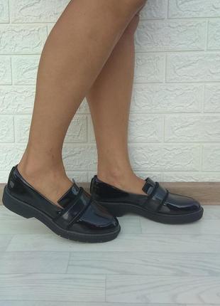 🍡 новые кожаные туфли лоферы clarks р 38,5-39