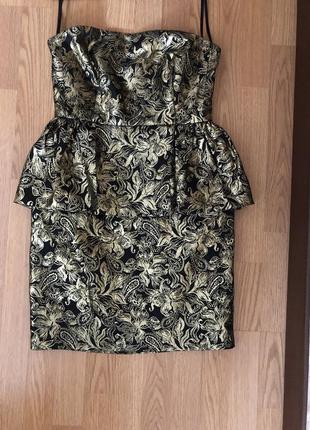 Роскошное вечернее золотистое платье мини бренда  be beau. англия. новое