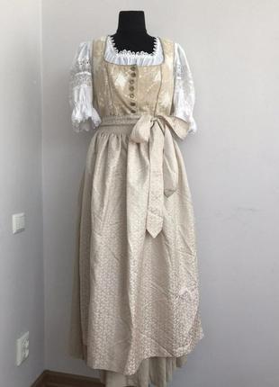 Дирндль 48 баварская тирольская девушка винтаж пастушка октоберфест невеста