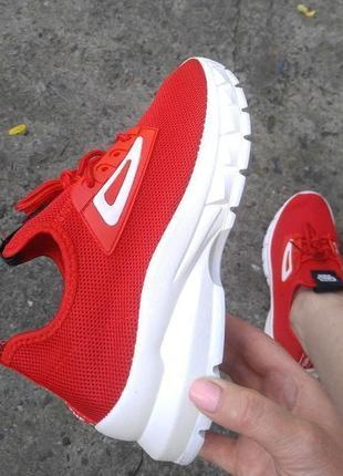 Кроссовки лето--red  &&&