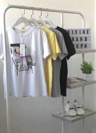 Шикарные футболки в модный принт с камнями и бусинами louise orop