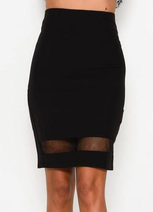 Шикарная юбка с прозрачным низом р 42-44