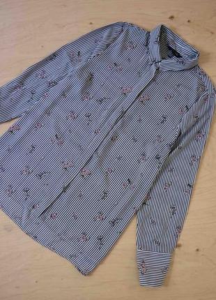 Красивая легкая блузка в полоску new look