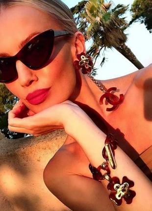 Изящные солнцезащитные очки кошки uv 400
