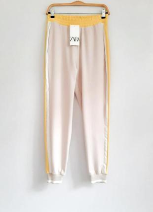 Зауженные брюки джоггеры на резинке штаны с лампасами