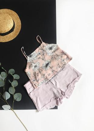 Распродажа! ❤️ шикарный розовый  топ в цветы на молнии.