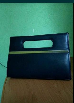 Клатч черный, сумка женская, сумочка маленькая.