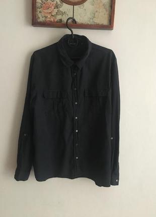 Базова натуральна сорочка на кнопках *ліоцелл