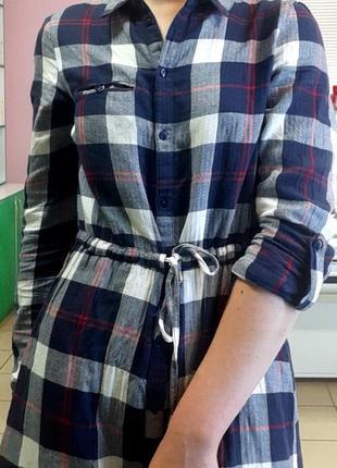Платье , рубашка в клетку
