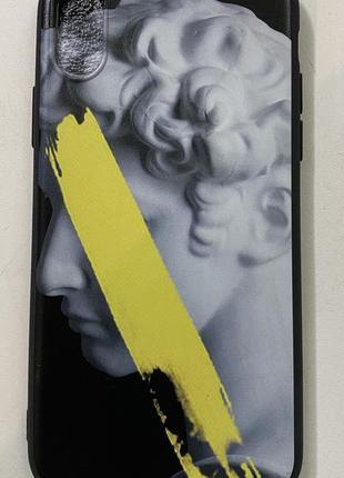 Чехол для iphone x со скульптурой чёрный