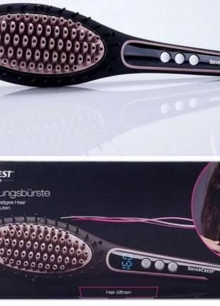 Щетка-выпрямитель, электрическая расческа, для волос silvercrest shgb 50 a1, black