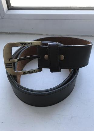 Ремень tommy hilfiger 100% оригинал кожаный новый