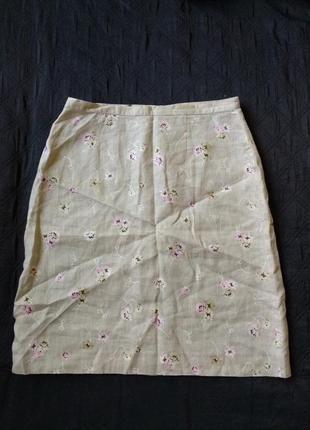 Стильная юбка лен