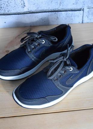 Синие легкие текстильные мужские кроссовки